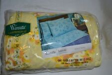 Wamsutta Lustercale Percale Yellow Daisy Double Bottom Fitted Sheet 54x75 In