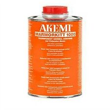 Akemi Epoxy Resin Transparent Honey Liquid 900ml Travertine etcTile Hole Filler