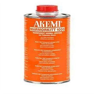 Akemi Epoxy Resin Transparent Honey Liquid 900ml Travertine etcTile Hole Filler