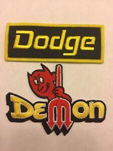 DODGE DEMON SEW/IRON ON PATCH EMBROIDERED HEMI MOPAR CAR