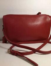 Vintage Coach Basic Bag Shoulder Zip Bag Red Leather USA Made Glued Serial #9455