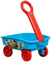 Paw Patrol Craft Caddy Trolley Pull Along Wagon Toys Books Indoor Garden Toy