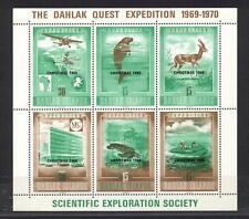 Ethiopia Eritrea SES - map, aircraft, dugong, gazelle, turtle