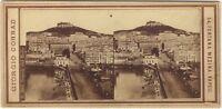 Napoli Italia Foto Giorgio Conrad Stereo Vintage Albumina Ca 1865