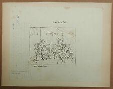 Dessin Ancien Néoclassique Femme XIXe MARQUIS VICTOR DE CLINCHAMP Salon 1817
