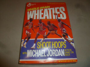NEW MICHAEL AIR JORDAN WHEATIES BOX 1990 SHOOT HOOPS GAME NO 9 GENERAL MILLS 23
