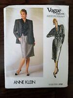 Vogue Sewing Pattern 1755 Jacket Blazer Skirt Blouse Sz 12 NEW UNCUT FF Vintage