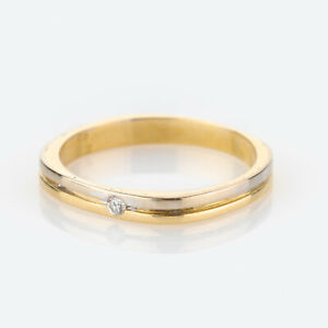 Ladies´ ring (18k gold) with a diamond