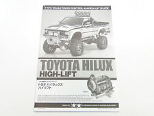 NEW TAMIYA HIGH LIFT TOYOTA HILUX  Manual TI
