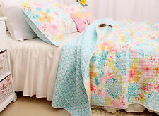 Quilts Coverlet Super King Size 265cm x 285cm  Spring Field Inc 2 pillowcases