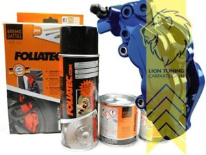 Foliatec Bremssattel Lack Set Farbe RS Blau glänzend 2162 + Bremsenreiniger