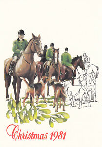 (10253) Jersey Christmas Hunt 1981 unposted