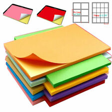 A4 Sheets Printable White Self Adhesive Sticker Color Paper Iink Office Lot