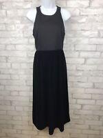 New! Gap Black Sleeveless Velvet Skirt Casual Cocktail High Neck Dress Sz 8