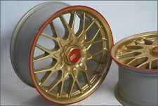 BBS RZ 18 Zoll BMW Alu Felgen e30 e36 e46 e87 e90 Z3 Z4 F30 RS RC M3 Gold & Rot!