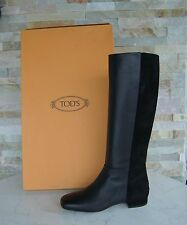Tods Tod´s Gr 39,5 Stiefel Boots Schuhe Shoes Suede black schwarz neu UVP 680 €