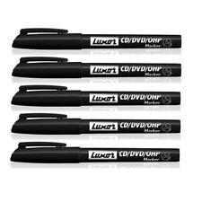 pack of 12 Black Luxor Sprint Grip Rubber Retractable Ballpoint Ball Pen 1MM