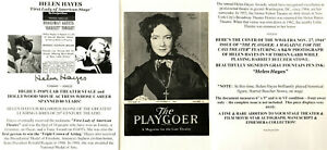 FIRST LADY AMERICAN STAGE THEATER MOVIE ACTOR HELEN HAYES SIGNED PHOTO COVER VF!
