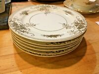 "SET 6 Kongo China Hand Painted STS Gold Encrusted Japan 7.5"" Salad Plates NICE!"