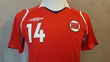very rare NORWAY #14 STEFFEN IVERSEN Umbro Football Shirt Size: Small