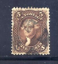 US Stamps - #76 - USED - 5 cent Jefferson Issue - CV $120 - fancy cancel