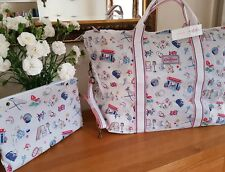 Cath Kidston Foldaway Shopper Weekend Travel Bag - Birthday in Stone