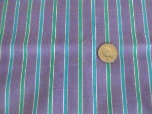 "3167. PURPLE/GREEN STRIPE Home Decor Cotton/Cotton Blend FABRIC--41"" x 2 1/4 yds"