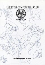 LEICESTER CITY FC - Multi Signed A4 Page - By 18 Players 2011/12 - FOOTBALL