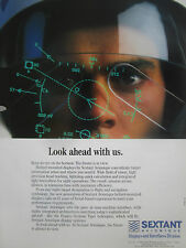 9/1990 PUB SEXTANT AVIONIQUE HELMET MOUNTED DISPLAY TIGRE HELICOPTER ORIGINAL AD