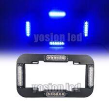 "13.6"" Led Car Number License Plate Lights Bulb Flashing Warning Strobe Blue 24 W"