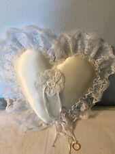 Wedding Ring Pillow Ivory Cream Color