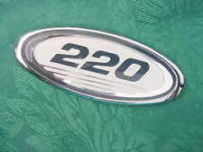"""SEA RAY BOAT EMBLEM CHROME 220 NEW 4"""" X 1-5/8"""" FOR ANY 22 FT BOAT W FLAT SURFACE"""
