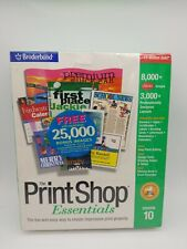 Broderbund Print Shop Version 10 Essentials Free Shipping