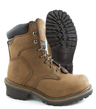 Chippewa Boots Steel Toe Brown Leather Work Safety Logger Boot 55025 Wide Width