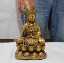 """9"""" Tibet Buddhism copper Bronze Jizo Ksitigarbha Bodhisattva Monk Buddha Statue"""