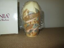 New Jardinia Harmony Kingdom Down River Fish Trout Marble Vase *Nib