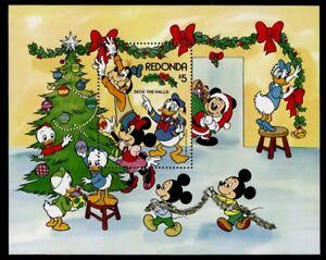 Redonda MIBK 22 MNH Christmas, Deck The Halls, Disney