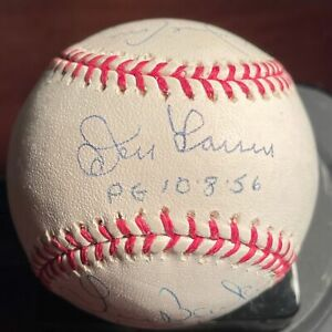 Don Larsen, David Cone, Browning/Barker Signed Perfect Game Baseball Steiner COA