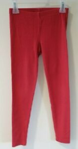 Tea Collection Brick Red Ribbed Knit Leggings Girl's Size 7