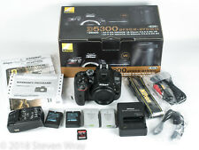 Nikon D5300 24.2MP DSLR MINT COND 2349 ShutterCount w/extras inc.4 batteries GPS