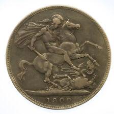 1900 Victoria Silver Crown Coin #8