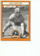 RAY GRAVES Personalized Autographed Signed 1990 card Tennessee Vols COA