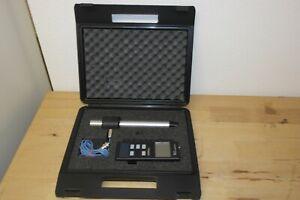 Höntzsch µP-TAD Anemometer Strömungsgeschwindigkeit / Flowmeter / flow/ luft gas