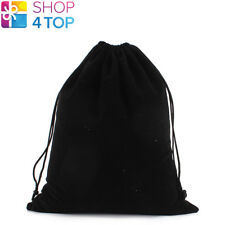 BLACK VELVET VELOUR CLOTH BAG POUCH DRAWSTRING JEWELRY GIFT 15 x 20 CM 1 PCS NEW