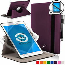 Purple Rotating Case Cover for Samsung Galaxy Tab S2 9.7 Scrn Prot Stylus