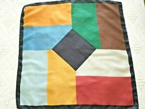 Vtg DUMONT Mens Silk Scarf Handkerchief Pocket Square Made in Italy