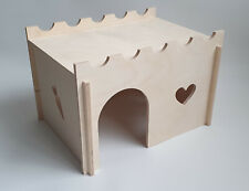 Rabbit Plywood Large Wooden House Pet Animal Guinea Pig Ferret Rat House Rodents