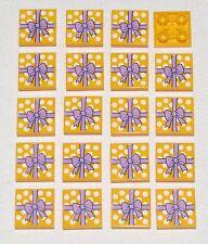 LEGO LOT  20 NEW INVERTED 2 X 2 TILE BRIGHT LIGHT ORANGE GIFT WRAP PRESENT BOWS