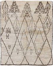 Vintage Tribal Moroccan Natural Wool Rug BB6207