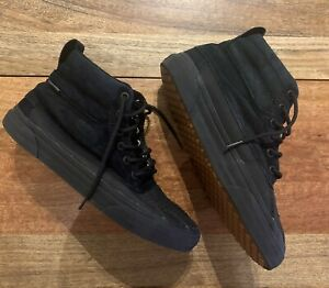 VANS Scotchgard Protection 3M Black Unisex Shoes Size US Men 9 - Women 10.5